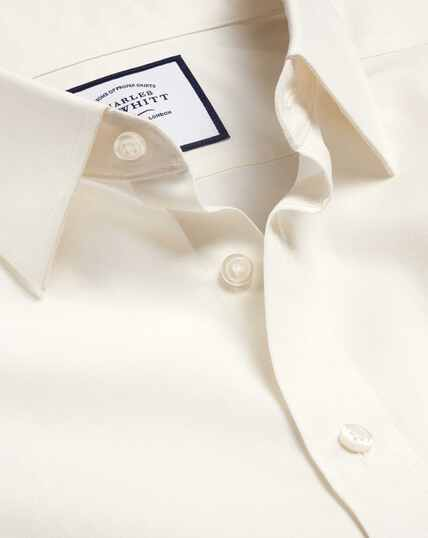 Non-Iron Poplin Shirt - Cream