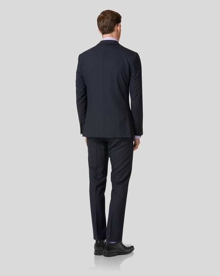Midnight blue slim fit Merino business suit jacket