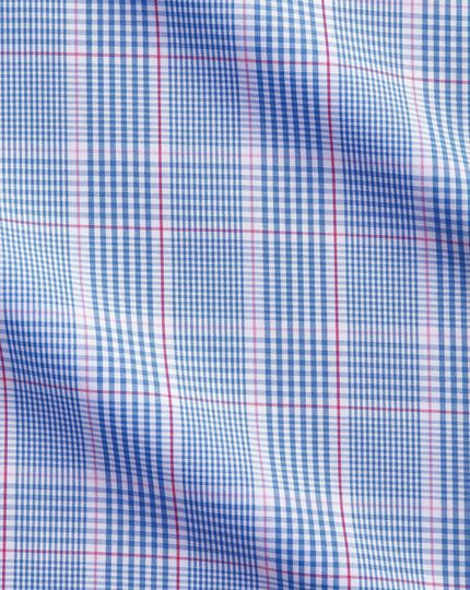 Extra slim fit blue and pink Prince of Wales check shirt