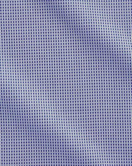 Slim Fit Hemd aus ägyptischer Baumwolle in Marineblau mit Diamant-Tupfen