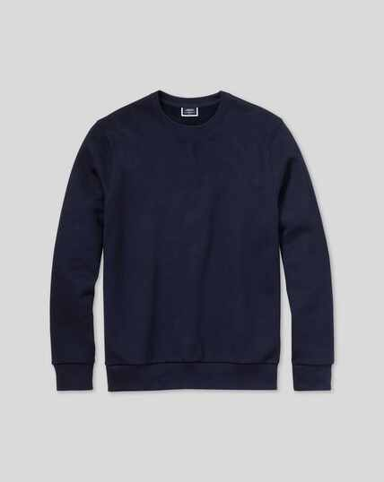 Jersey Crew Neck Sweater - Navy