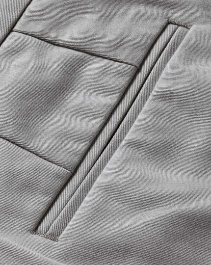 Silver grey classic fit single pleat non-iron chinos