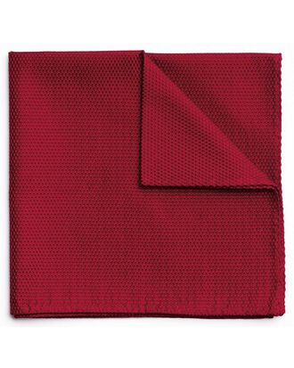 Red classic plain pocket square