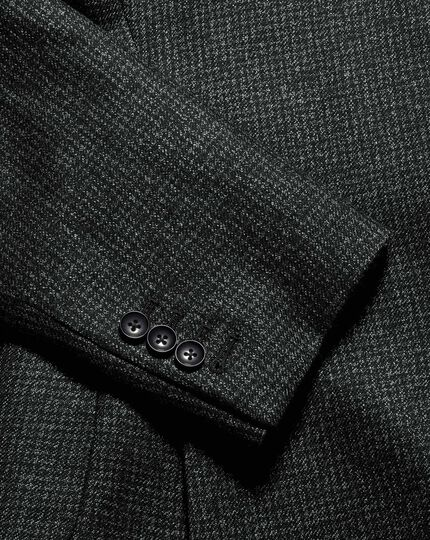 Mini Grid Check Jacket - Charcoal
