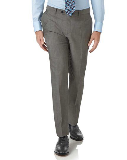 Grey slim fit Italian wool luxury suit trousers