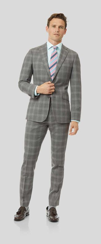 Check Suit - Light Grey