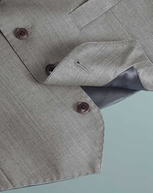Silver grey slim fit Italian suit