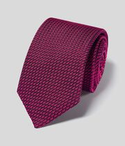 Silk Grenadine Italian Luxury Tie - Dark Pink