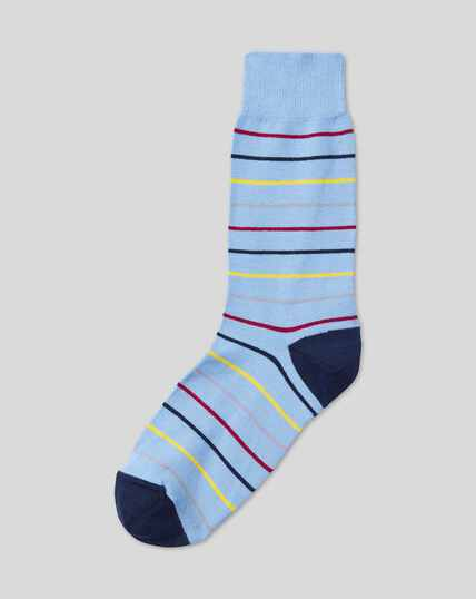 Multi Stripe Socks - Sky Multi