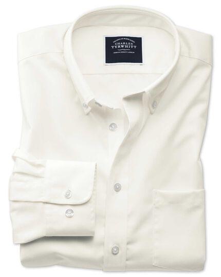 Non-Iron Twill Shirt - Off-White