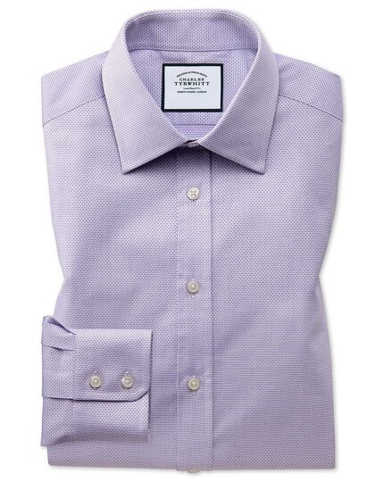 Cube Weave Egyptian Cotton Shirt - Lilac