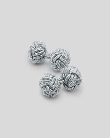 Knoten-Manschettenknöpfe - Grau