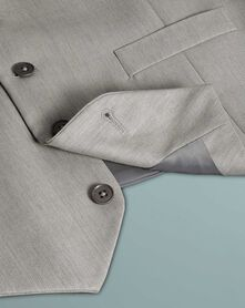 Costume business gris clair en twill slim fit