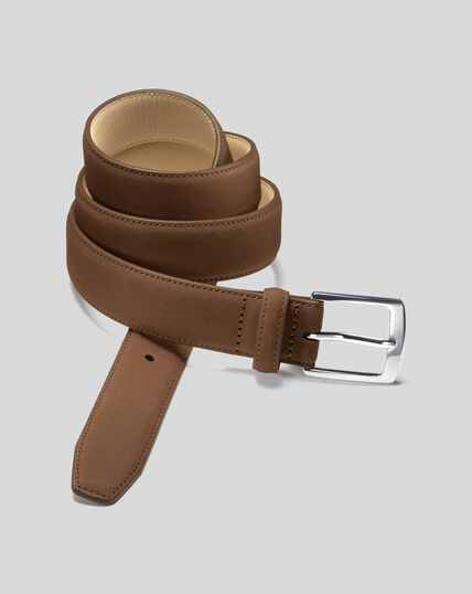 Nubuck Belt - Tan
