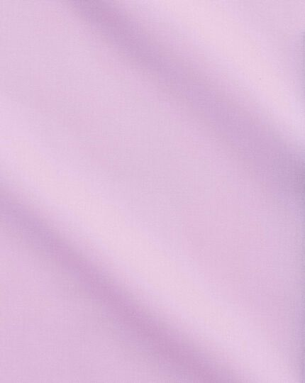 Chemise business casual rose clair slim fit sans repassage à col boutonné