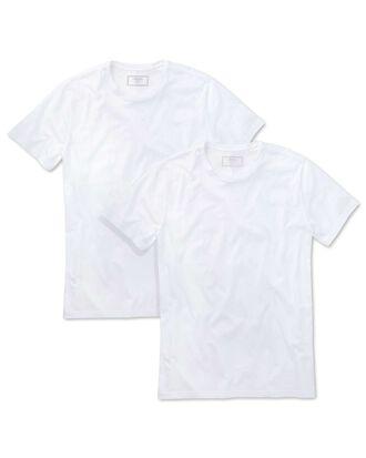 2 pack white cotton undershirt t-shirts