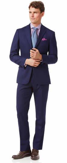 Royal blue slim fit merino business suit