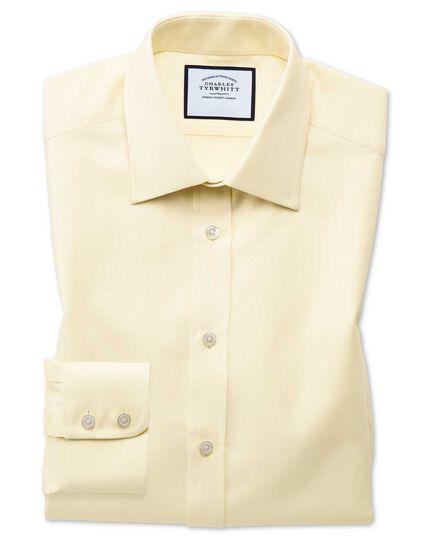 Extra slim fit Egyptian cotton royal Oxford yellow shirt