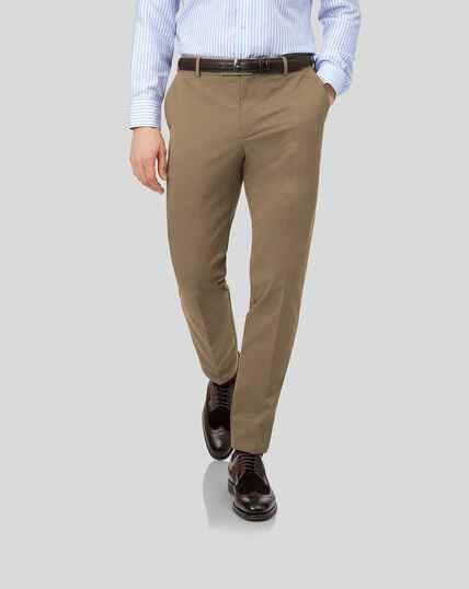 Pantalon chino sans repassage - Fauve