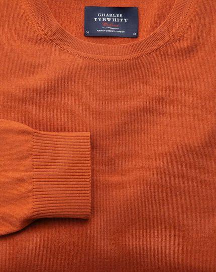 Orange merino crew neck sweater