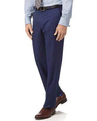 Indigo slim fit hairline business suit trousers