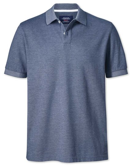 Chambray Oxford polo
