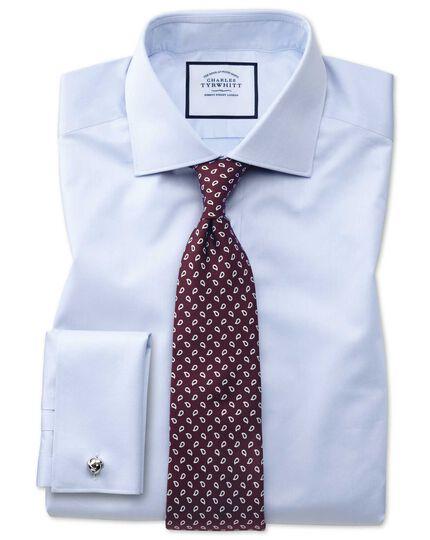 Cravate de luxe sept plis en soie anglaise bordeaux