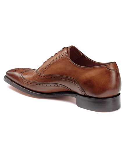 Chestnut made in England Oxford brogue flex sole shoes