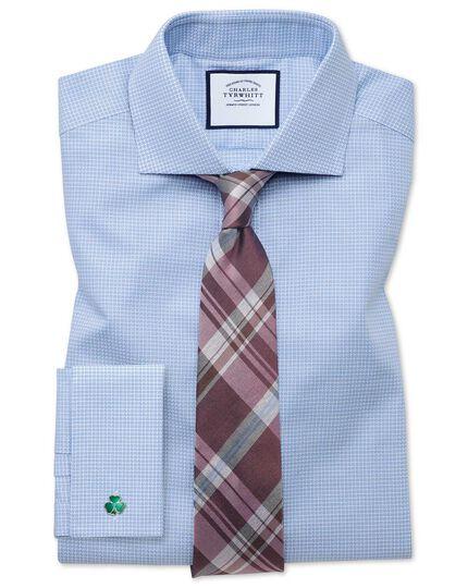 Pink tonal check silk classic tie