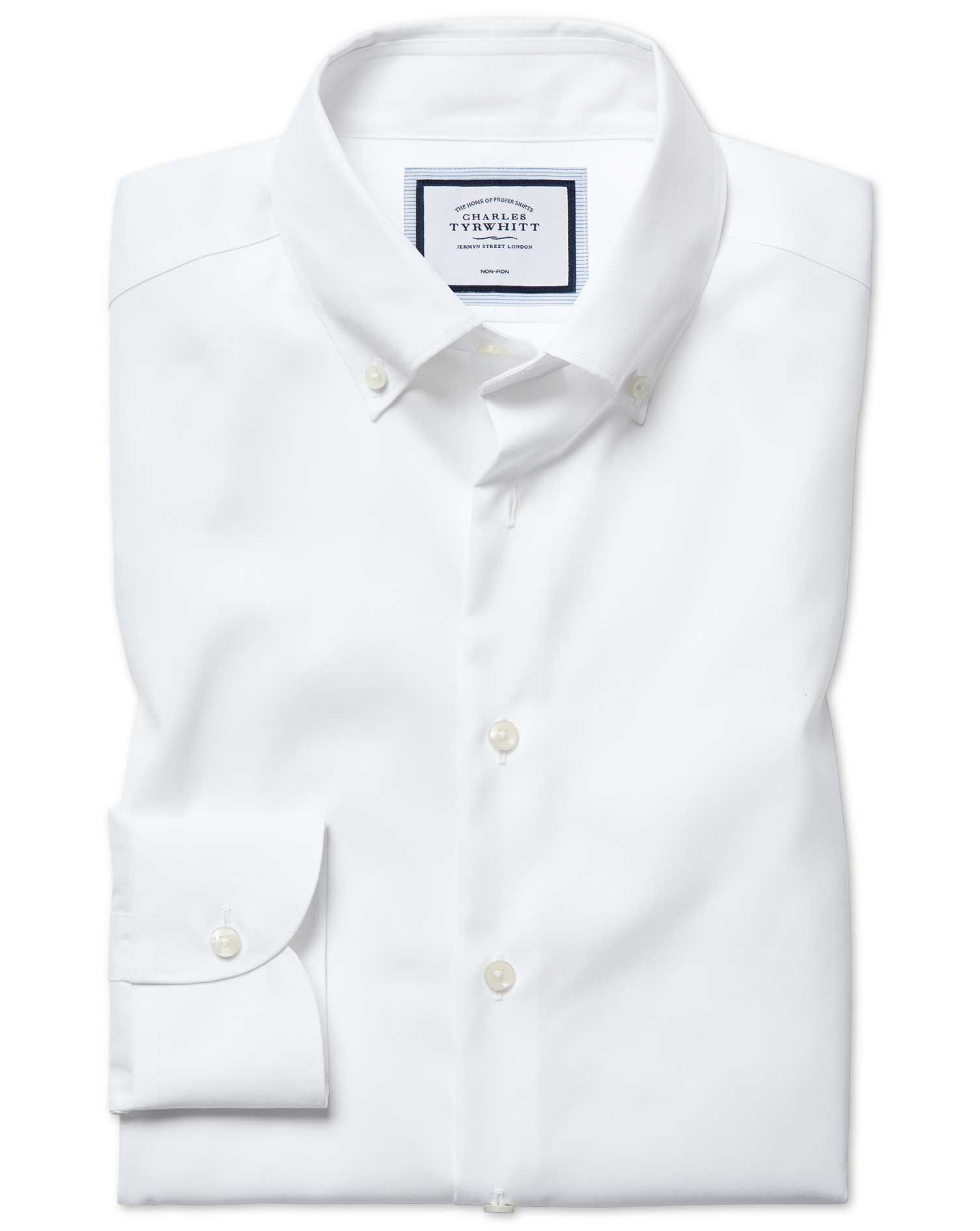 Men's Clothing White Charles Tyrwhitt Shirt Dress Shirts
