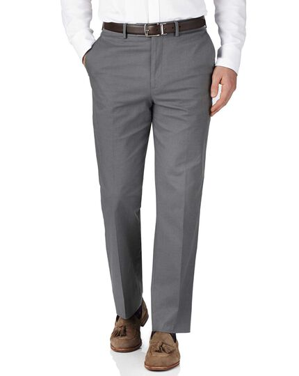 Grey classic fit pin dot pants