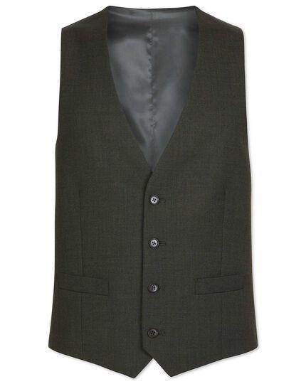 Green adjustable fit Merino business suit vest