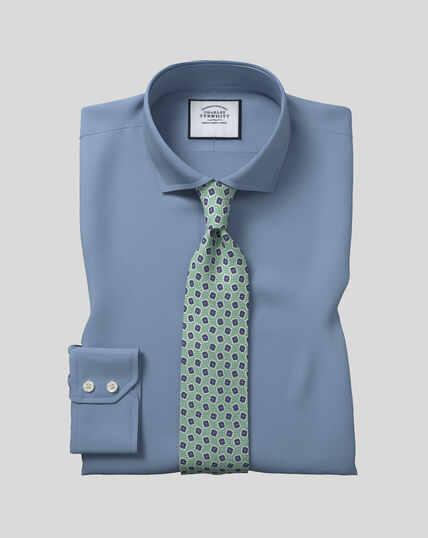 Chemise stretch avec TENCEL™ et col cutaway - Bleu roi