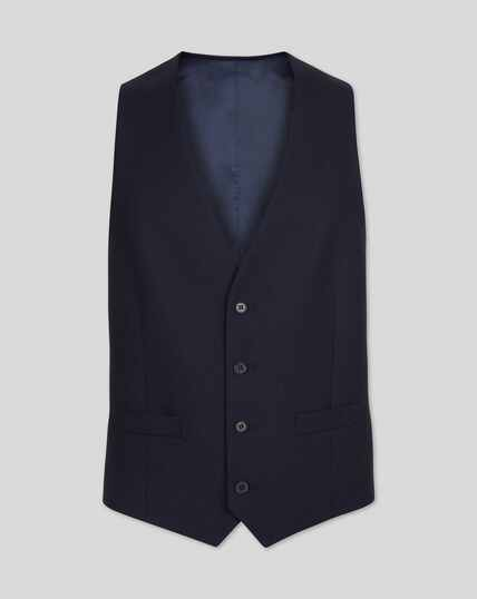 Twill Business Suit Vest - Navy