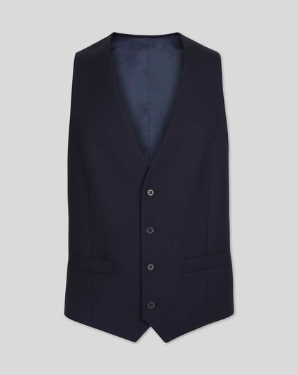 Gilet de costume business en twill - Bleu marine