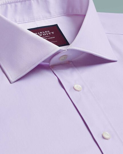 Slim fit luxury twill lilac shirt