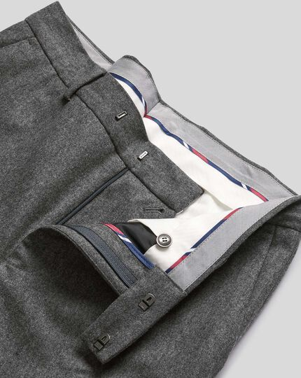 Flannel Trousers - Grey