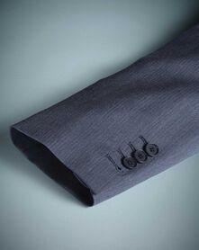 Light blue slim fit herringbone business suit
