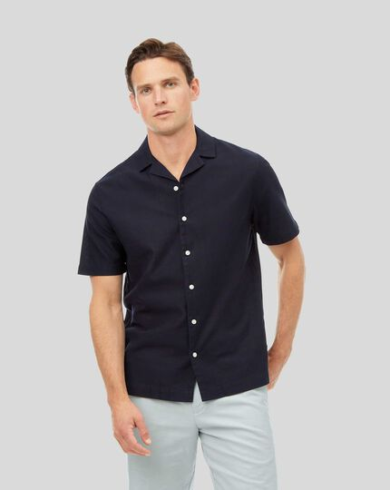 Short Sleeve Resort Shirt - Navy