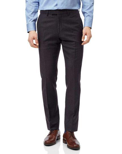 Aubergine slim fit Italian suit trouser