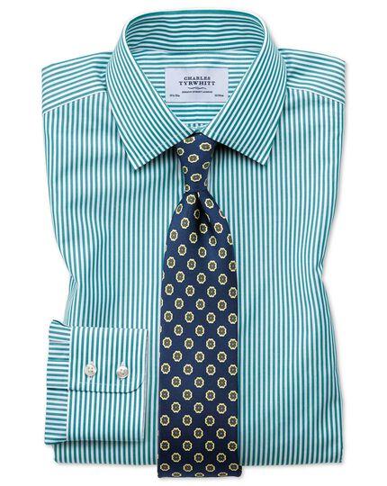 Slim Fit Hemd in Grün mit Bengal-Streifen