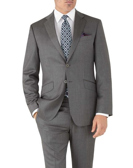 Grey slim fit Italian suit jacket