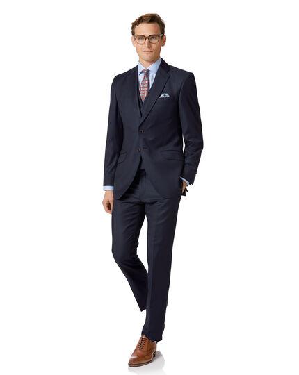Italienisches Luxusanzug-Sakko Slim Fit Twill in Marineblau