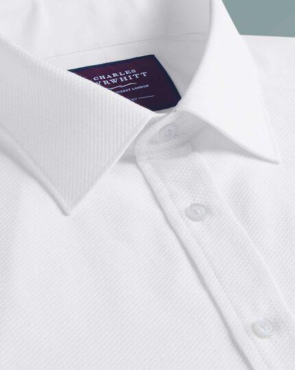 Slim fit luxury Marcella bib front white evening shirt