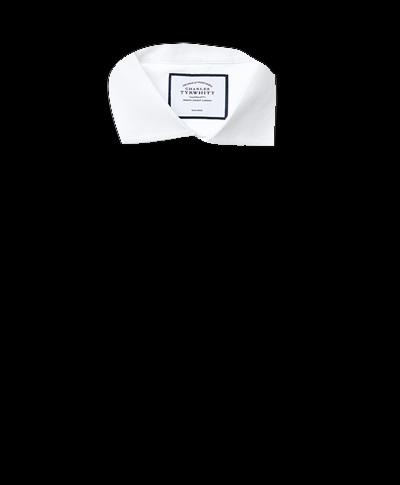 Classic fit white non-iron poplin cutaway collar shirt