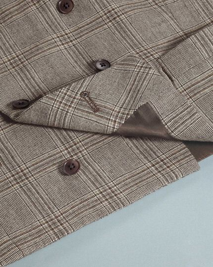 Grey adjustable fit British serge luxury suit waistcoat