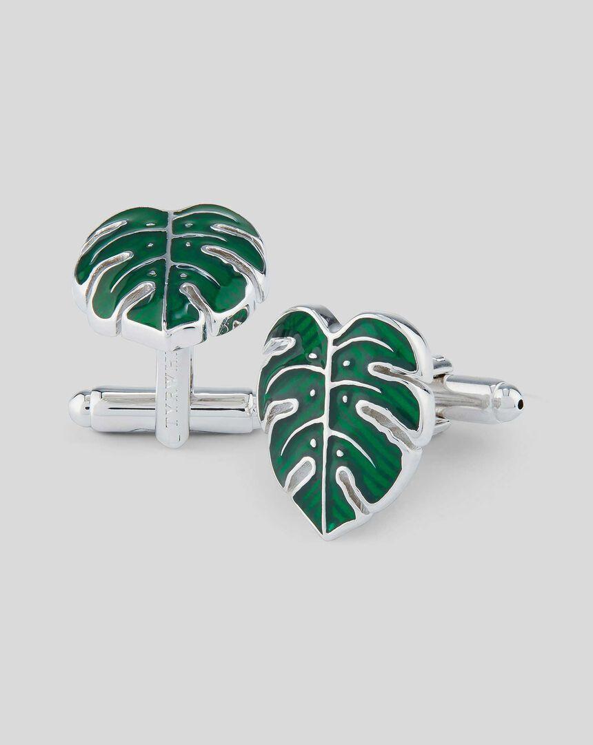 Leaf Cufflink - Green