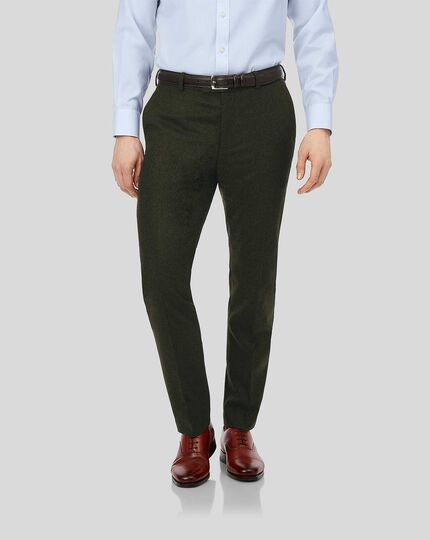 Flannel Trousers - Dark Olive