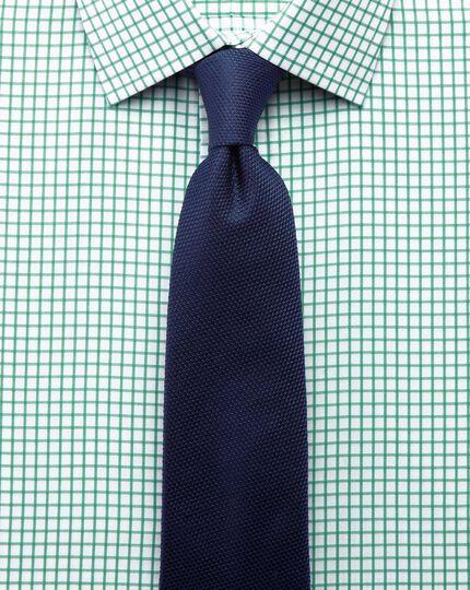 Slim Fit Twill-Hemd in Grün mit Gittekaros
