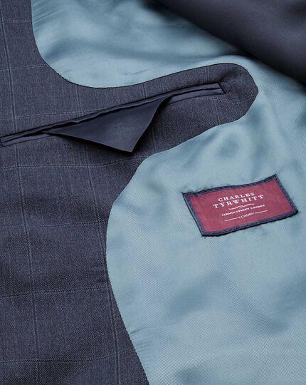 Airforce blue classic fit Italian suit jacket